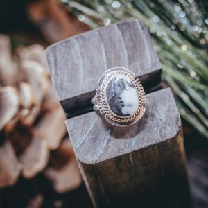 White Buffalo Ring Sz. 6