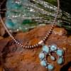 White Water Turquoise Naja & Navajo Pearls Set