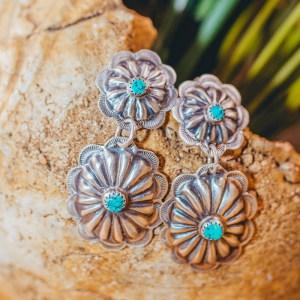 Sleeping Beauty Concho Earrings