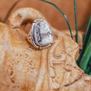 White Buffalo Ring Sz. 8