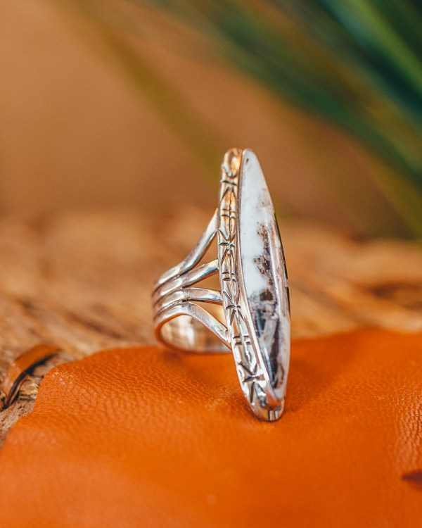 White Buffalo Ring Sz. 7
