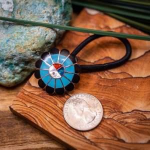 Zuni Turquoise Ponytail Holder
