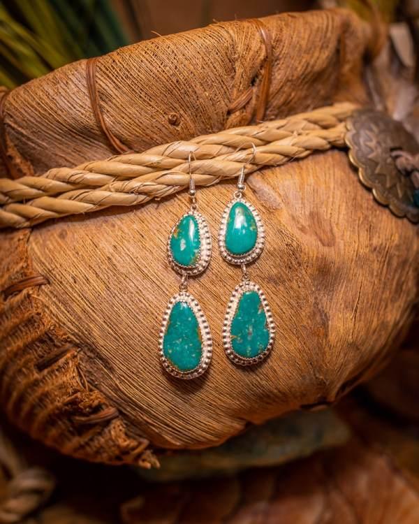 Easter Blue Turquoise Earrings