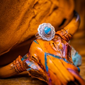 Kingman Turquoise Ring Sz. 7.5
