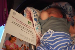 Luz, less than a month old is probably the youngest reader of my dissertation. Clearly, she wasn't impressed. :)