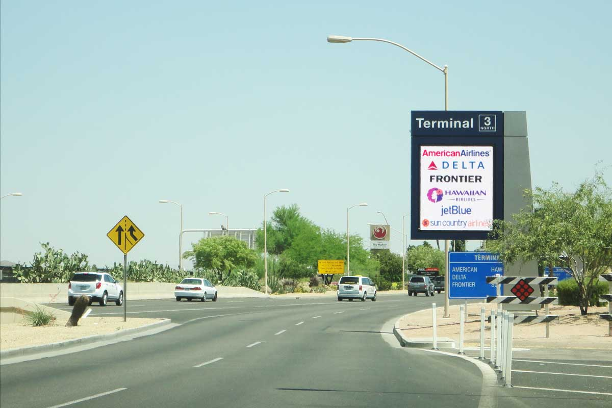 Sky Harbor Int'l Airport Roadway Installlation Photo