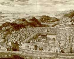 Ilustrasi Mekah tempo dulu (harakatuna)