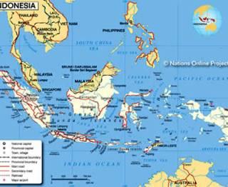 Ilustrasi - Peta Indonesia. (inet)