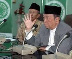 Ketua Majelis Ulama Indonesia, Amidhan (berjas abu-abu). (Nunu/Republika)