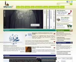 Cuplikan situs WhyIslam.org, 2 Januari 2012. (dakwatuna.com/hdn)
