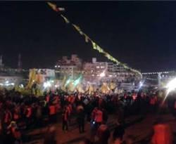 Perayaan Milad Fatah di Jalur Gaza. (knrp)