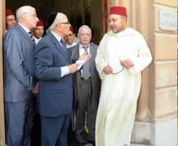 Raja Maroko Mohamed Sadis sedang mengunjungi Gereja. (Muannif Ridwan)