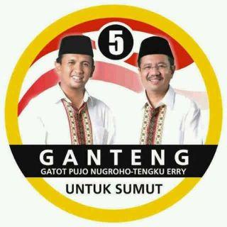 Pasangan Cagub-Cawagub Sumut Nomor 5, Gatot Pujo Nugroho dan Tengku Erry Nuradi. (inet)