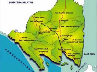 Peta Provinsi Lampung. (inet)