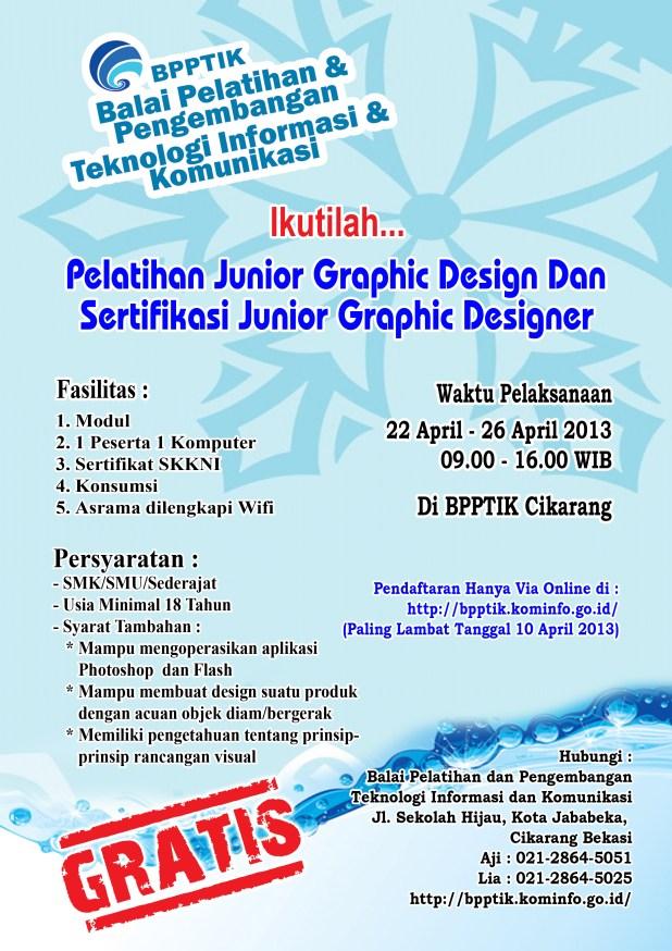 Brosur Pelatihan Graphic Design 22042013