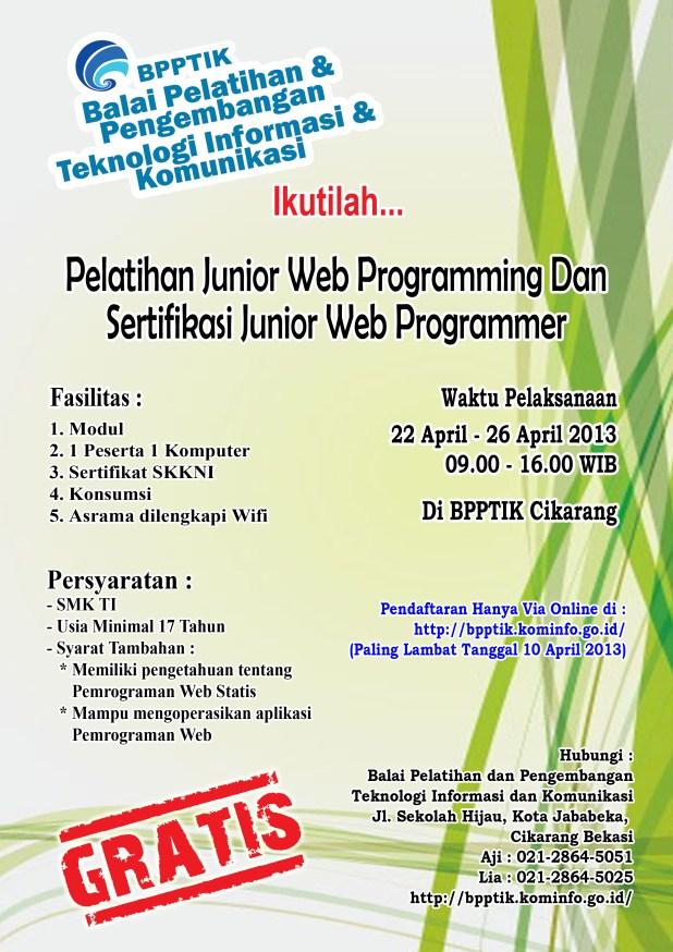 Brosur Pelatihan Web Programming 22042013