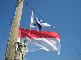 Bendera Israel di Indonesia (ilustrasi)