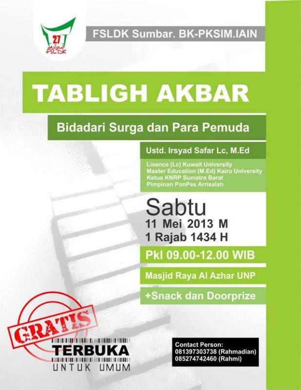 info-umat-tabligh-akbar-fsldk-sumbar