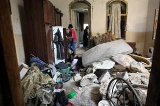 Rumah Keluarga Samir Awad  setelah penyerangan