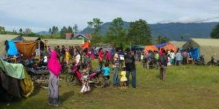 Pengungsi dari sekitar lereng Gunung Sinabung. (Foto: ACT)