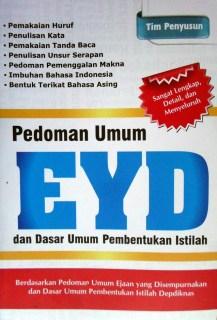 """Cover buku """"Pedoman Umum EYD dan Dasar Umum Pembentukan Istilah""""."""