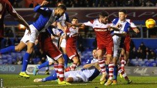 Laga Middlesbrough kontra Birmingham City yang berakhir imbang 2-2 pada Sabtu, 7/12 (foto: bbc.co.uk)