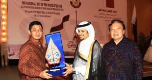 Senior Vice President (SVP) ACT N. Imam Akbari  bersama Dubes Qatar Mohammed Khater Al-Khater.