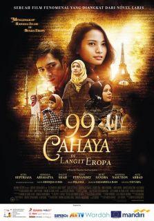 """Poster film """"99 Cahaya Langit Di Eropa"""". (21cineplex.com)"""