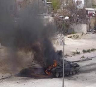 Di antara tank militer Basyar Asad yang dihancurkan pasukan revolusi (islammemo)