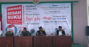 Sosialisasi Fatwa Penyimpangan Syiah di Indonesia oleh MUI Pusat di Aula PIH Batam, Ahad (2/2) (Foto: puri/kammi)