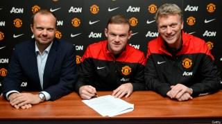Wayne Rooney (tengah) pemain termahal dalam sejarah Liga Inggris (bbc)
