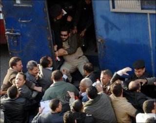 Aksi penangkapan di Mesir (alakhbarnow.net)
