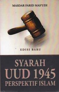 """Cover buku """"Syarah UUD 1945 Perspektif Islam""""."""