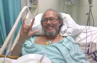 Ferrasta Soebardi alias Pepeng, ketika masuk rumah sakit pada Agustus 2013 - Foto: okezone.com