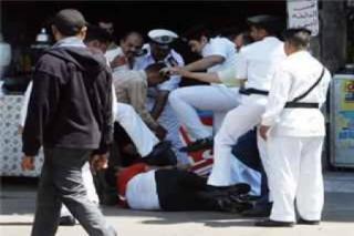 Tindakan brutal aparat kepolisian Mesir dalam menghadapi pengunjuk rasa (shorouknews)