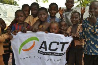Anak-anak pengungsi Afrika Tengah.  (ACT)