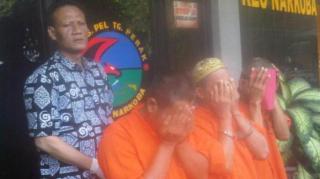 Oknum Guru SD yang tertangkap saat pesta sabu-sabu di salahsatu ruang guru. Jumat (6/6/14).  (tribunnews.com)