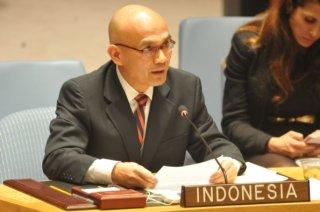 Desra Percaya, Wakil Tetap Republik Indonesia untuk PBB di New York.  (humanitarian-studies.org)