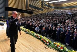 Erdoan di depan kader AK Parti (Anadolu)