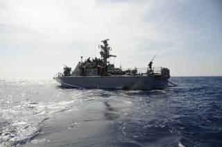 Kapal perang Israel di perairan Gaza (islammemo)