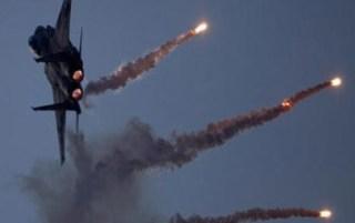 Pesawat tempur Israel yang ditembak dengan roket pejuang Palestina (paltimes.net)