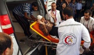 Warga sipil Palestina korban serangan agresi militer Israel. (Reuters)