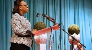 Presiden sementara Afrika Tengah, Catherine Samba-Panza (Asy-Syarqul Al-Awsat)