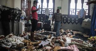Mayat-mayat korban pembantaian di Rabiah Adawiyah (Aljazeera)