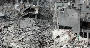 Jalur Gaza porakporanda akibat agresi militer Israel (inet)