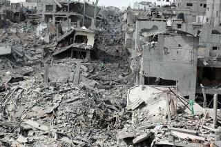 Jalur Gaza akibat agresi militer Israel (inet)
