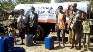 Penyaluran Air di Dusun Rejosari, Desa Serut, Kec. Gedangsari, Gunungkidul sebanyak 2 RT atau 70 KK.  (asih/rz)