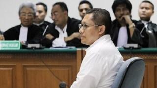 Mantan Ketua Umum Partai Demokrat, Anas Urbaningrum dalam sidang Dugaan Korupsi Kasus Hambalang.  (jpnn.com)