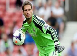 Asmir Begovic , Penjaga Gawang klub Liga Inggris Stoke City asal Bosnia Herzegovina. (www.dailynews.co.th)