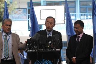 Sekjend PBB, Ban Ki Mon kunjungi Jalur Gaza (safa.ps)